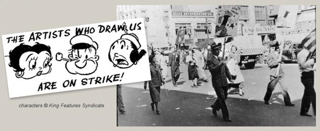 Image result for Cartoonists strike